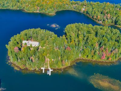 Photo for NEW LISTING! Dog-friendly home on private island w/boat landing + guest boats!