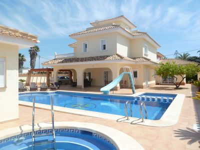 Photo for Fantastic 5 Bedroom Beach Villa In The Heart Of Cabo Roig - Private Pool