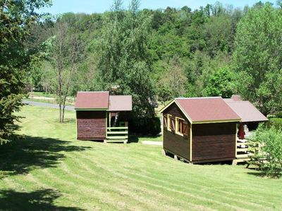Photo for Camping La Rochelambert **** - Green Cabin for 4 people without toilets