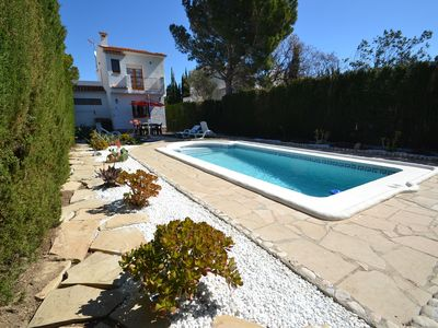 Photo for Tres Calas Mistral:Private Sw.pool and nice garden-3bedrooms-Free wifi & linen-Easy access beaches