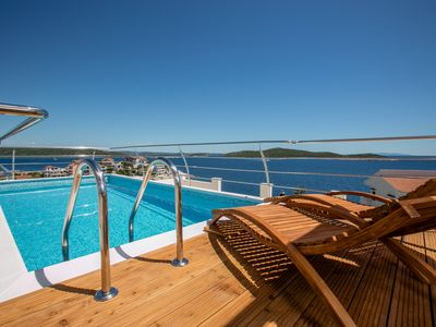 Photo for AMAZING SEAVIEW VILLA WITH PRIVATE POOL LAST MINUTE 6.-13.7. ; 24.7. - 3.8. -22%