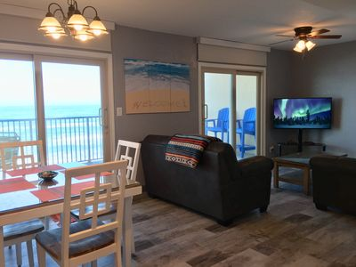 Bright, newly remodeled, beachfront condo with gorgeous ocean view