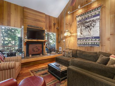 Photo for Condo Aspens 2B, Wood Fireplace, Private Deck, Cable TV, Propane Grill