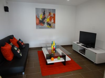 Photo for New air-conditioned apartment 4 pers with garden near the beaches of Saint Florent
