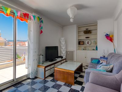 Photo for Large apartment with nice view and sunny terrace