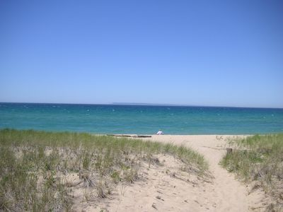 Photo for Peaceful River Setting within walking distance to the Lake Michigan Beach