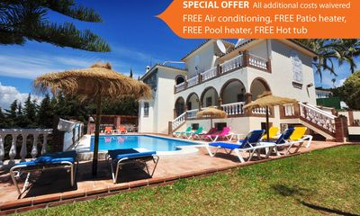 Photo for 11 bedroom Villa, sleeps 15 with Pool, Air Con, FREE WiFi and Walk to Shops