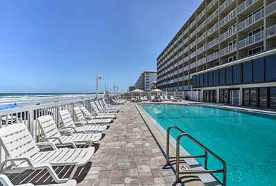 Enjoy ocean views and the private beachside pool.