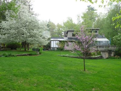 Photo for Spacious, Elegant Woodstock Classic on 4 acres, Walk-to-town and Swimming Stream