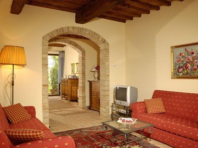 Photo for Two Bedroom Split Level Apartment in Tuscany.   Logis is a spacious apartment, part of a beautifully