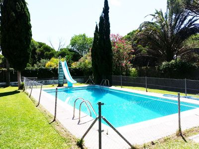 Photo for Private villa with pool in Roche, close to the beach, Sleeps 16 people