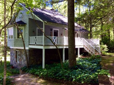 Photo for Lake Summit Nest, peaceful retreat with dock & boathouse on cool, clean lake