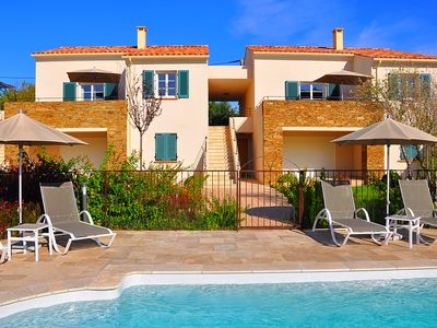 Photo for Mini villa 85 m2, the heart of Saint Florent, 6pers, garden, terrace, swimming pool, wifi, air conditioning