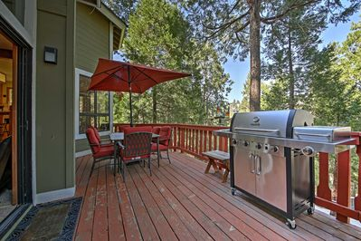 Spend your nights grilling out and relaxing on this expansive back patio.