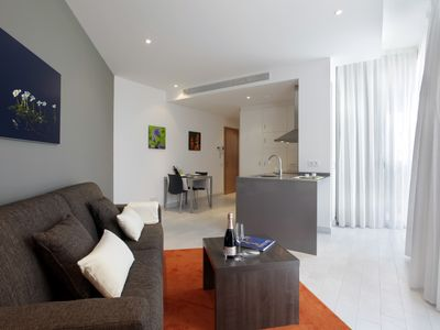 Photo for 1 bedroom apartment for 4 people with sofa bed and balcony, near Camp Nou 2º2º