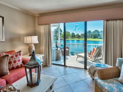 Amazing Lake Views on1st floor w/ Golf Cart! Pool/Beach! Book Now!