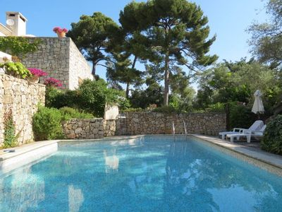 Photo for Villa 80m2 terrace 100m2 between Cannes Antibes swimming pool garden view sea mountains