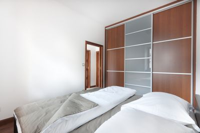 Bedroom with big storage and AC