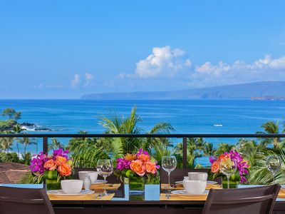 Photo for 4TH FLOOR PANORAMIC OCEAN VIEWS! Mer Et Soleil K408 at Wailea Beach Villas
