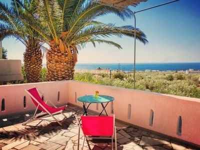 """Photo for The Blue Moon Apartment """"Gufo"""", sea view, 500 meters from the beach"""