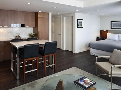 Photo for Beautifully Furnished, Modern Studio Apartment in Downtown Vancouver