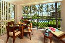 Ocean and beach view lanai! - Watch the whales breach from your lanai with dining table, chaise lounge and end table!