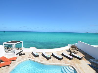 Photo for NO HURRICANE DAMAGE: Caribbean Oceanfront VILLA,  Private Pool & Beach. No car needed.