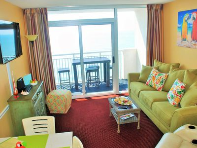 Photo for **ISLAND TIME Parrot Cabana; Direct Oceanfront Balcony; King w/Luxury Bedding**