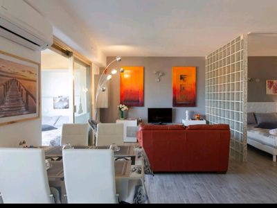 Photo for Chic sea view apartment in the heart of Cannes