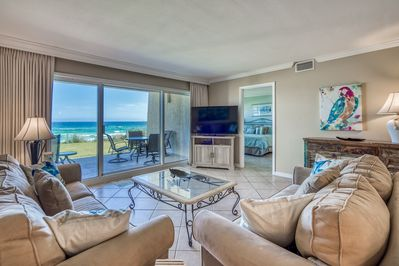 Living Room includes Gulf Views!