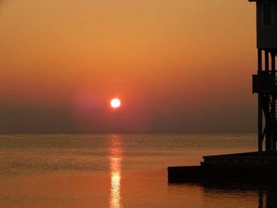 Photo for Enjoying Amazing Sunsets Overlooking The Sound From The Deck