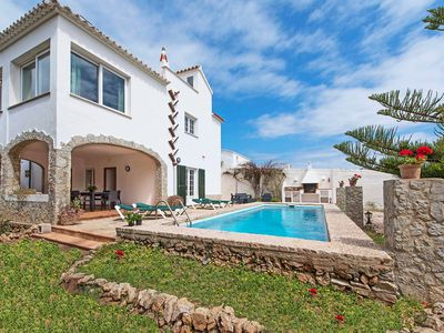 Photo for This 6-bedroom villa for up to 10 guests is located in Arenal D'en Castell, Menorca and has a privat