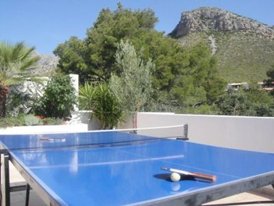 Table tennis on the private roof terrace