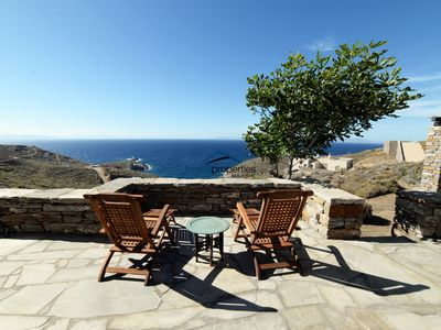 Photo for Traditional stone built villa with a fantastic sea view near a large sandy beach