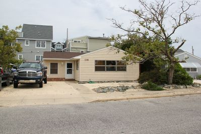 Front of house, off street parking for 4 cars; close to beach.
