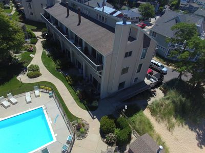 Photo for On Lake Michigan with Private Beach & Pool. Walk to Town! Every Window Lakeview!