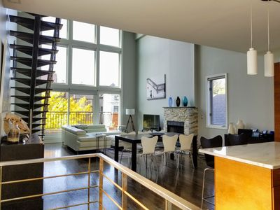 Photo for Top Floor Duplex with 20ft Ceiling & City Views