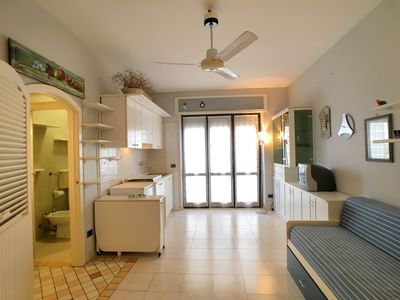 Photo for Comfortable studio located in Gallipoli, Baia Verde, a stone's throw from the beaches and the clubs