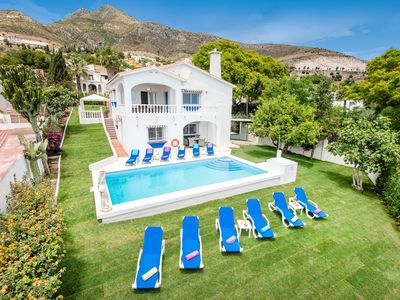 Photo for Executive 5 bedroom Luxury Villa with sea views and heated Saltwater pool