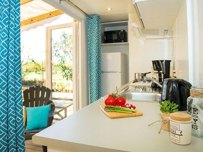 Photo for Camping Les Tours **** - Premium Mobile Home 4 rooms 6 people conditioning