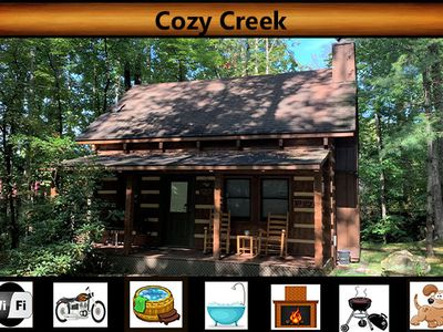 Photo for Cozy Creek - Creek Views \  Hot Tub \ Pet Friendly \ Fireplace \ Wifi