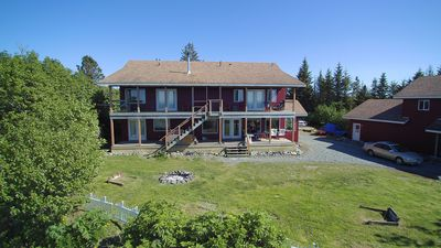 Photo for A warm Alaskan fishing lodge overlooking the Cook Inlet and mouth of the Anchor