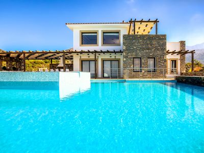 Photo for Luxury Villa Isabella with private pool and panoramic sea views, Sisi, Crete