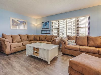 Photo for Oceanfront corner unit with great views! Complex has great amenities! 4 Pools