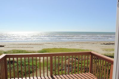 Beach view from deck.