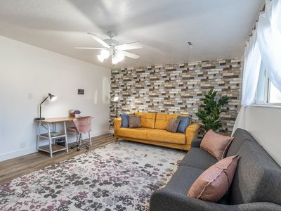"""Photo for ♛King Bed • 55""""TV ϟ Fast Wifi ✔ Near BYU & UVU Ⓟ FREE Parking"""
