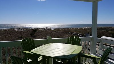 Photo for Oceanfront, FIRST FLOOR, Right on the Beach, Free Summer Linens!