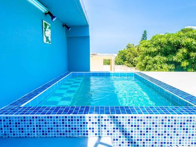 Photo for Moon Jacuzzi 4 bedroom Villa w/Sea View/Hot tub/7-11/near Cosy beach