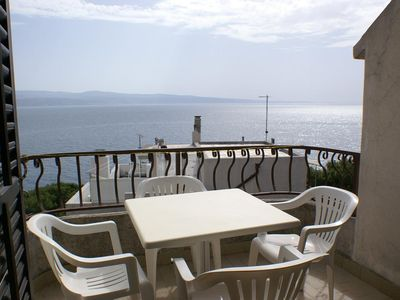 Photo for Studio flat near beach Nemira, Omiš (AS-2782-c)