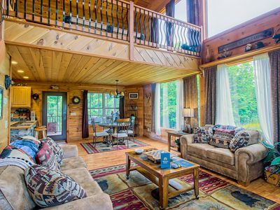 Photo for Dog-friendly home with private hot tub, pool table, and mountain views!